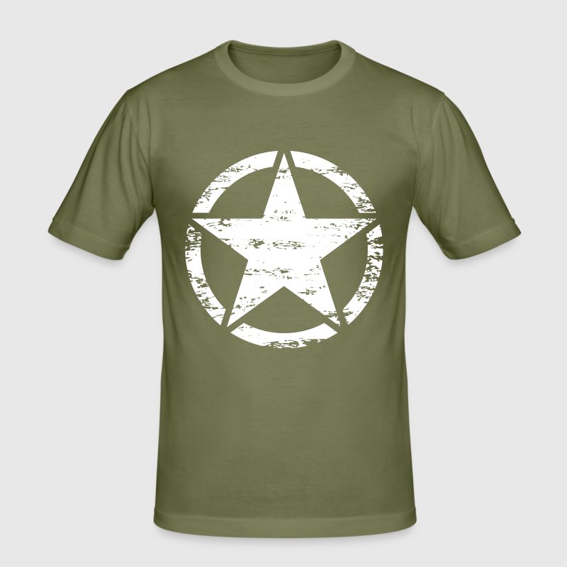 us vintage army star - Men's Slim Fit T-Shirt