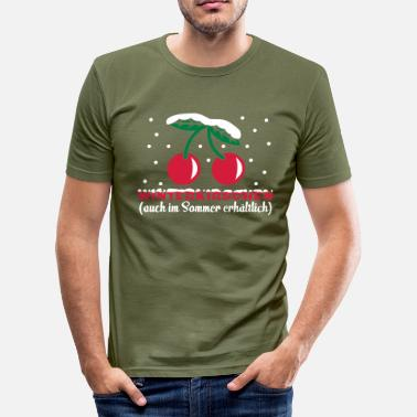 Saisonal winterkirschen - Männer Slim Fit T-Shirt