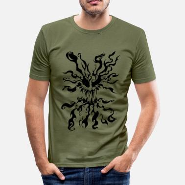 Demonisk Demonisk Tribal - Slim Fit T-shirt herr