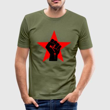 Stand up, fight back Shirt - Männer Slim Fit T-Shirt