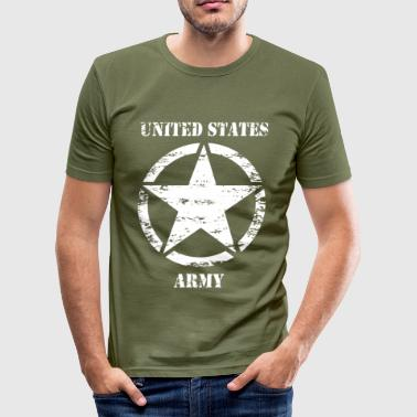 us vintage army star 02 - Men's Slim Fit T-Shirt