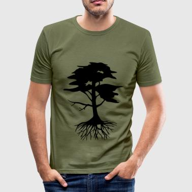 Tree with roots - Men's Slim Fit T-Shirt