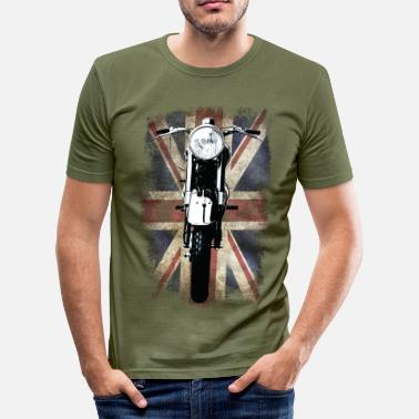 Motorcycle Vintage Motor Cycle BSA feature patjila - Men's Slim Fit T-Shirt