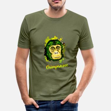 Chimps chimp monkey chimp Stadtaffe camouflage chill - Men's Slim Fit T-Shirt
