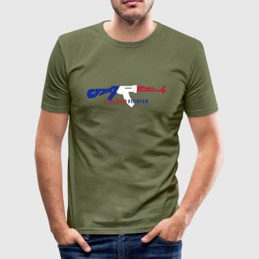 satire freedom fighter_vec3 es - Camiseta ajustada hombre
