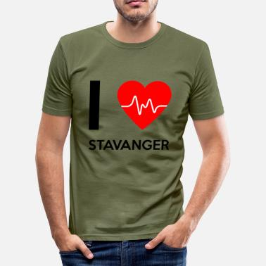 Love I Love Stavanger - I Love Stavanger - Men's Slim Fit T-Shirt