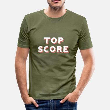 Score Top Score - Red / black - Mannen slim fit T-shirt