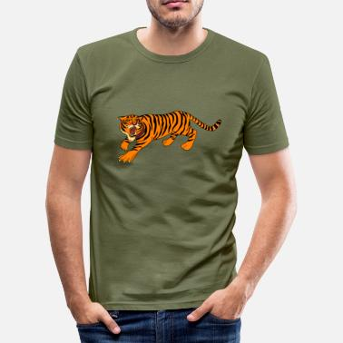 Tiger tiger, tiger, - Herre Slim Fit T-Shirt