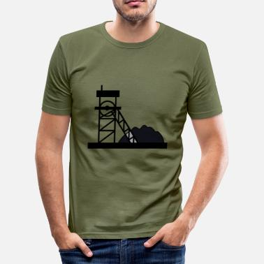 Construction Site construction mechanic construction site maurer186 - Men's Slim Fit T-Shirt