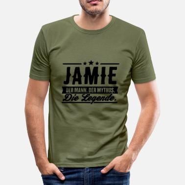 Jamie Man Myth Legend Jamie - Slim Fit T-shirt herr