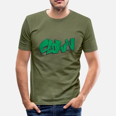Fishing Graffiti clown graffiti - Men's Slim Fit T-Shirt