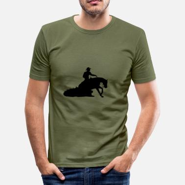 Sliding Stop Sliding stop Western Riding - Slim Fit T-skjorte for menn
