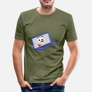 Notebook Illustrated laughing notebook - Men's Slim Fit T-Shirt