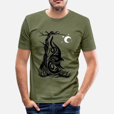 Pagan Art, Green Man, Fantasy Dwerg. - slim fit T-shirt