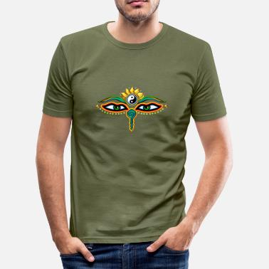 Buddha Eye Eyes of Buddha, symbol wisdom & enlightenment,  - Men's Slim Fit T-Shirt