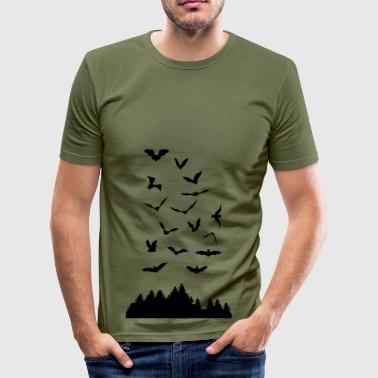 Bats Bats & Wood - Men's Slim Fit T-Shirt
