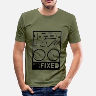 Fixed Gear Let' Fixed It 2 - Männer Slim Fit T-Shirt
