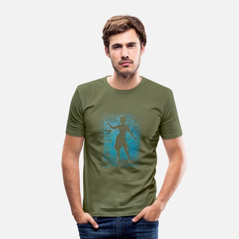 Lets Have A Party T-Shirts - latin dance | Dance Shirts - Men's Slim Fit T-Shirt khaki green