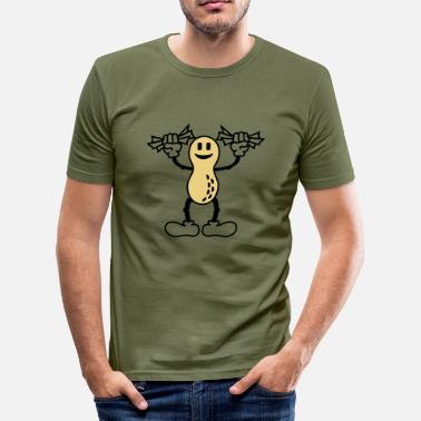 Deutsche Bank peanuts (B, 2c) - Men's Slim Fit T-Shirt