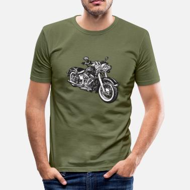 Motorcycle chopper hog bike motorrad - Men's Slim Fit T-Shirt