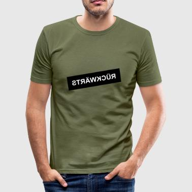 Motto Rueckwaerts - Männer Slim Fit T-Shirt