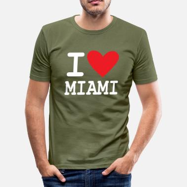 Miami Dolphins I Love Miami - Herre Slim Fit T-Shirt
