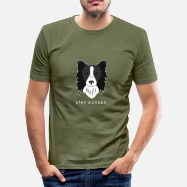 Border Collie Border Collie - T-shirt près du corps Homme