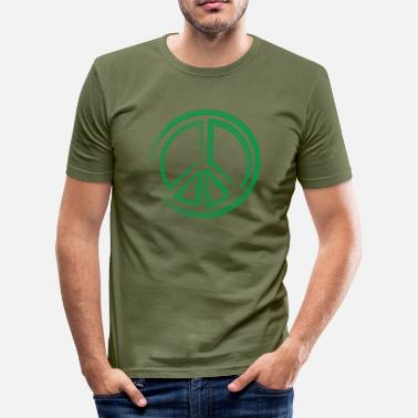 Green Peace Peace green - Men's Slim Fit T-Shirt