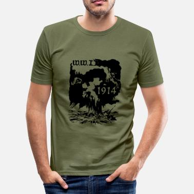 Ww1 ww1914_vec_1 de - Männer Slim Fit T-Shirt