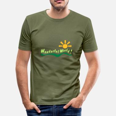 Wanderer wanderful world - Men's Slim Fit T-Shirt