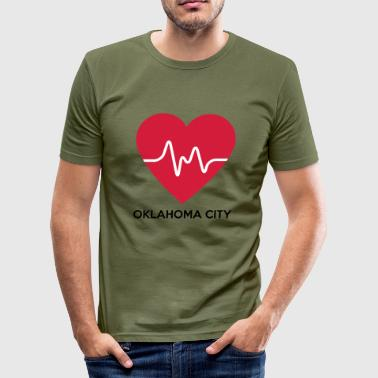 Heart Oklahoma City - Men's Slim Fit T-Shirt