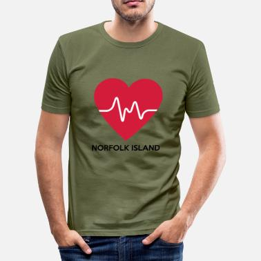 Norfolk Heart Norfolk Island - Herre Slim Fit T-Shirt