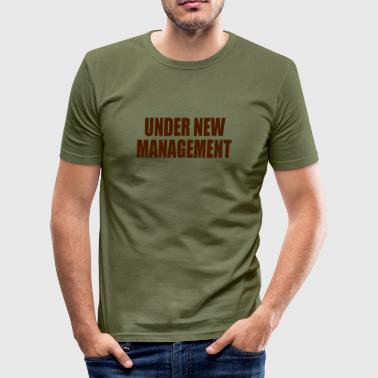Under New Management (groom, stag night, wedding, honeymoon) - Men's Slim Fit T-Shirt