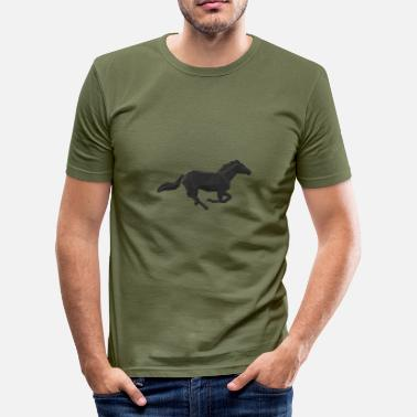 Galop Hest galop - Herre Slim Fit T-Shirt