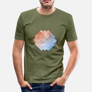 Norwegen Norge Norge - Norwegen - Männer Slim Fit T-Shirt