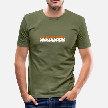 Cleveland Browns Cleveland Football - Männer Slim Fit T-Shirt