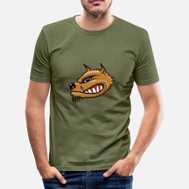 Airbrush Hyena cartoon airbrush - slim fit T-shirt
