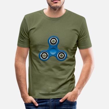 Fidget Spinner Fidget Spinner 005 Blue - Men's Slim Fit T-Shirt