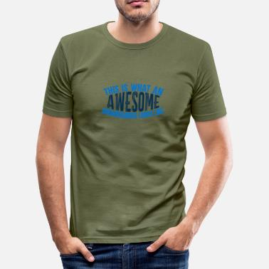 Snehare Awesome boarder - Boarder Power - Herre Slim Fit T-Shirt