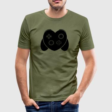 Tekst Gaming Liefde Van Gaming - Zwart - slim fit T-shirt