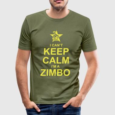 I Can't Keep Calm, I'm A Zimbo - Men's Slim Fit T-Shirt