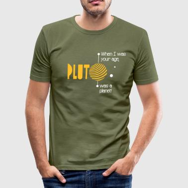 Pluto - Männer Slim Fit T-Shirt