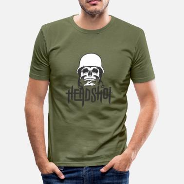 Head Shot Schedel Hoofd Schot en vermaning - slim fit T-shirt