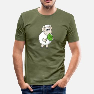 Lucky Charm Lucky comic sheep - Men's Slim Fit T-Shirt