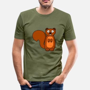 Dier squirrel eichhoernchen dier dieren - slim fit T-shirt