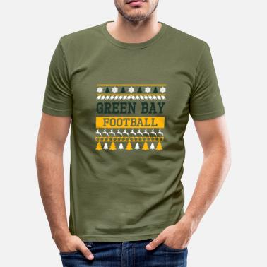 Green Bay Packers Ugly Sweater Green Bay - Herre Slim Fit T-Shirt