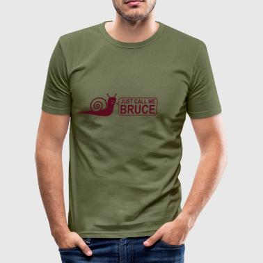 Bruce - Snegl - Herre Slim Fit T-Shirt
