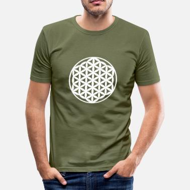 Spiritual Flower Egypt Flower of Life, Flower of Life - Men's Slim Fit T-Shirt