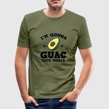 Condiment Cool I'm gonna GUAC your world T-Shirt - Men's Slim Fit T-Shirt