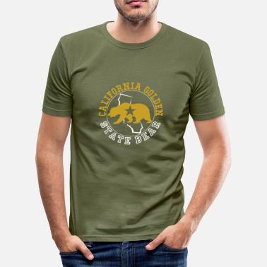 California California Golden State Bear - Men's Slim Fit T-Shirt